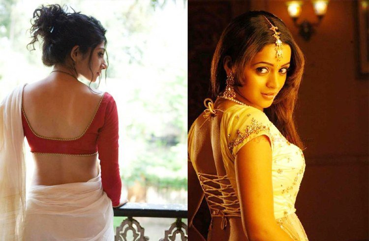 That Backless saree blouses designs for women interesting. You