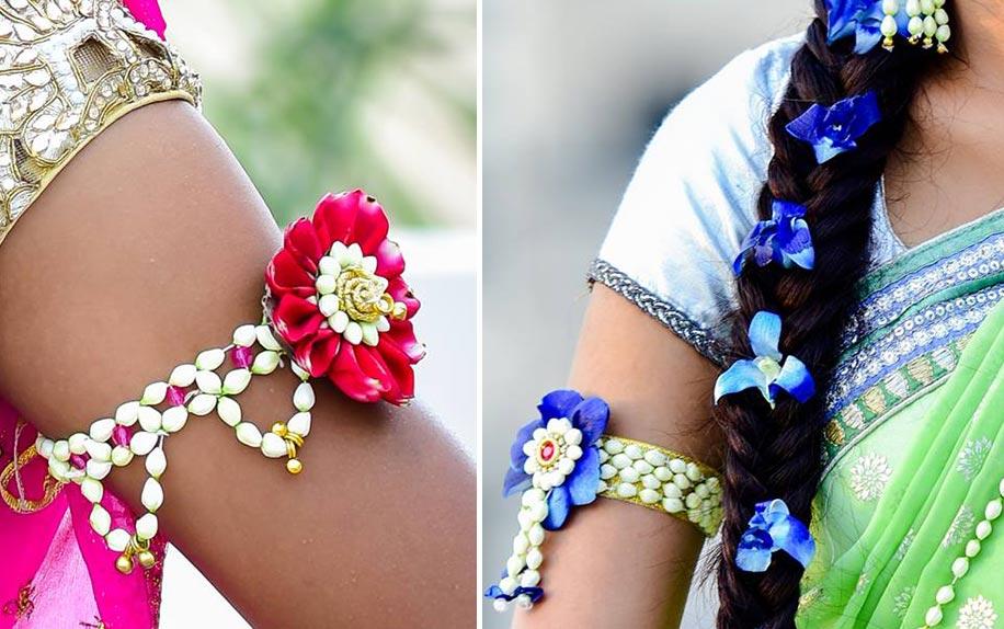 Flower Designer Wedding Mehndi Jewellery : Beautiful flower jewellery designs for indian brides