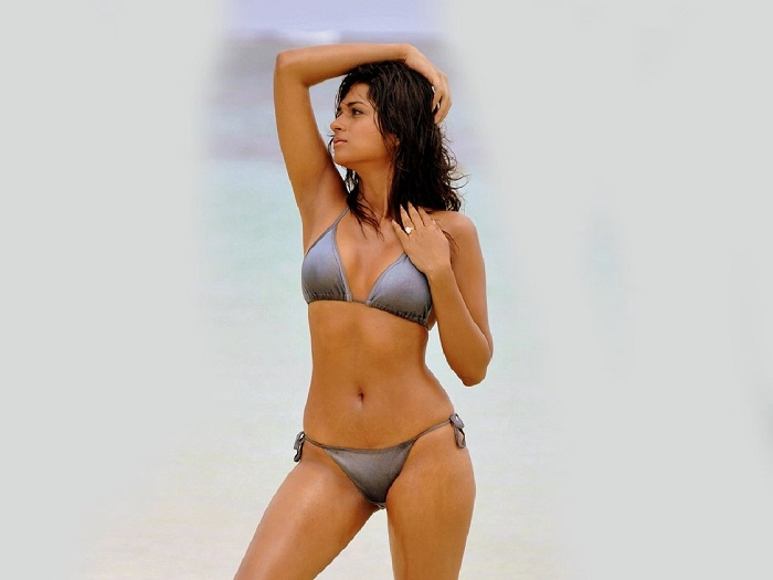 Actress Shraddha Arya Bikini Stills: South Indian Actress In Bikini Pics Gallery