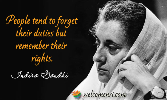 Indira gandhi quotes collection people tend to forget their duties but remember their rights altavistaventures Image collections