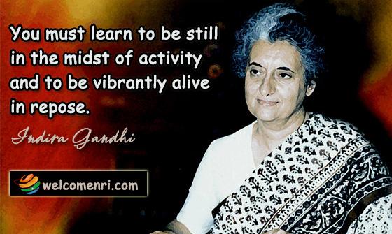 Indira Gandhi warning about money