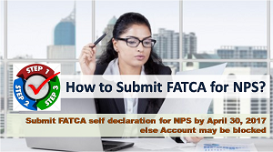 Submit FATCA declaration for NPS to prevent it from getting Blocked ?