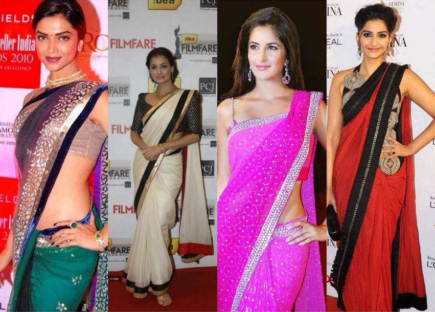 how to put the top on a saree